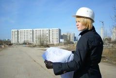 architekt kobiety Zdjęcia Stock