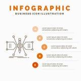 Architekt, Konstruieren, Gitter, Skizze, Struktur Infographics-Schablone f?r Website und Darstellung Linie graue Ikone mit Orange stock abbildung