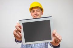Architekt mit einem Tabletten-PC Lizenzfreie Stockfotografie