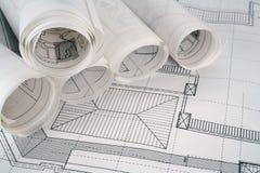 Architekt plant Serie Stockfotografie