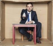 Architekt, teraźniejszość model dom Fotografia Stock