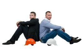 Architekt und Ingenieur, die eine Pause machen Stockfotografie