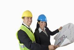 Architekt und Klient stockfotos