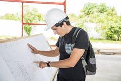 Architekt w budowie zdjęcie stock