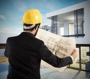 Architekt willi projekt zdjęcia stock