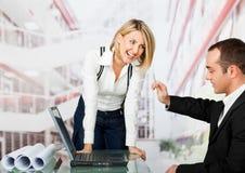 architekta działanie żeński męski Zdjęcia Stock