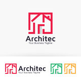 Architekta loga Domowy wektorowy projekt Fotografia Royalty Free