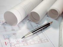 Architekta plan Obraz Royalty Free
