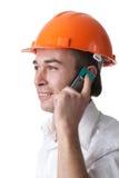 architekta samiec telefon komórkowy Fotografia Stock