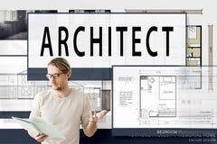 Architekten-Architecture Housing Floor-Plan-Konzept Lizenzfreie Stockfotos