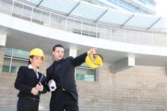 Architekten auf Baustelle Lizenzfreies Stockfoto