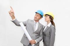 Architekten bei der Arbeit Lizenzfreie Stockbilder