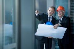 Architekten bei der Arbeit Lizenzfreies Stockfoto