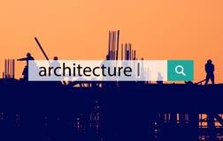 Architekten-Building Construction Structure-Konzept des Entwurfes Stockfotografie