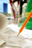 Architekten-Schreibtisch Lizenzfreies Stockbild
