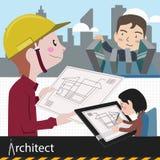 Architektenarbeitsprojekt Stockfotografie