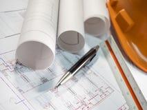 Architektenplan 5 stockfotografie