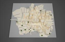 Architektenplanmodell Stockfotografie