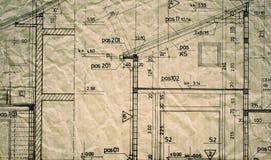 Architektenprojekt-Zeichnungsplan lizenzfreie stockbilder