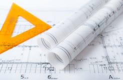 Architektenprojektplan lizenzfreies stockfoto