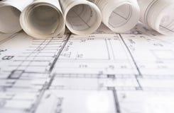Architektenprojektzeichnung lizenzfreies stockfoto