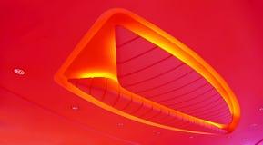 Architektoniczna abstrakcjonistyczna podsufitowa oprawa oświetleniowa Fotografia Stock