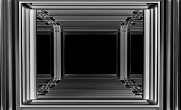 Architektoniczna abstrakta 3d ilustracja ilustracja wektor