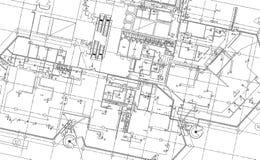 architektoniczna budynku rysunku czerepu rotunda architektoniczna Fotografia Stock