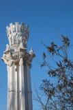 Architektoniczna kolumna socjalistyczna era Zdjęcia Stock