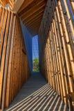 Architektoniczne wnętrze linie i geometryczne postacie Fotografia Royalty Free