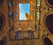Architektoniczni cudy Siena ilustracja wektor