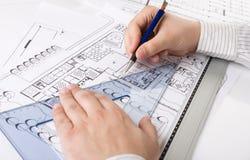 architektoniczni plany Zdjęcie Royalty Free