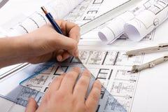 architektoniczni plany Zdjęcia Royalty Free