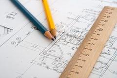 architektoniczni plany Obrazy Stock