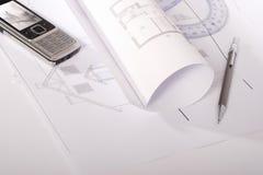 architektoniczni plany Obrazy Royalty Free