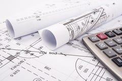 Architektoniczni plany Zdjęcia Stock