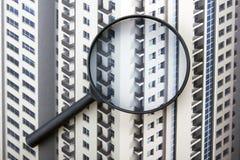 Architektoniczni projekty, projekt rolki i powiększać, - szkło na białym tle Zdjęcia Royalty Free
