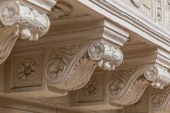 Architektoniczni szczegóły balkony obraz stock
