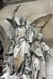 Architektoniczni szczegóły opera obywatel de Paryż: Lirycznego dramata Fasadowa rzeźba Perraud obrazy stock