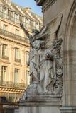 Architektoniczni szczegóły opera obywatel de Paryż: Taniec Fasadowa rzeźba Carpeaux Uroczystej opery Garnier pałac jest obraz stock