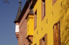 Architektoniczni szczegóły Burgau kasztel, DÃ ¼ ren, Niemcy Obrazy Stock