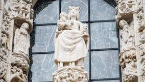 Architektoniczni szczegóły Jeronimos monaster lub Hieronymites monaster, Lisbon, Portugalia Lisbon jest kontynentalnym Europa ` s Zdjęcie Stock