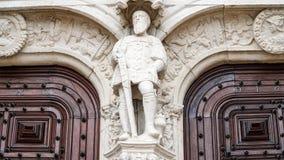 Architektoniczni szczegóły Jeronimos monaster lub Hieronymites monaster, Lisbon, Portugalia Lisbon jest kontynentalnym Europa ` s Zdjęcia Royalty Free