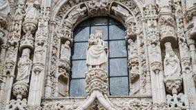 Architektoniczni szczegóły Jeronimos monaster lub Hieronymites monaster, Lisbon, Portugalia Lisbon jest kontynentalnym Europa ` s Obrazy Stock