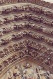 Architektoniczni szczegóły Katedralny Notre Damae de Zdjęcie Royalty Free