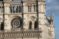 Architektoniczni szczegóły Katedralny notre dame de paris Fotografia Royalty Free