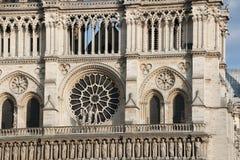 Architektoniczni szczegóły Katedralny notre dame de paris Zdjęcie Royalty Free