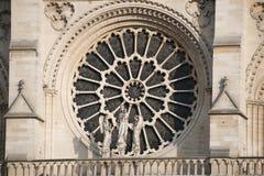 Architektoniczni szczegóły Katedralny notre dame de paris Obrazy Royalty Free