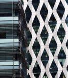 Architektoniczni szczegóły przy Salford Quays, Anglia zdjęcia stock