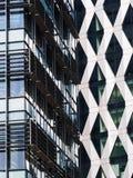 Architektoniczni szczegóły przy Salford Quays, Anglia Zdjęcie Stock